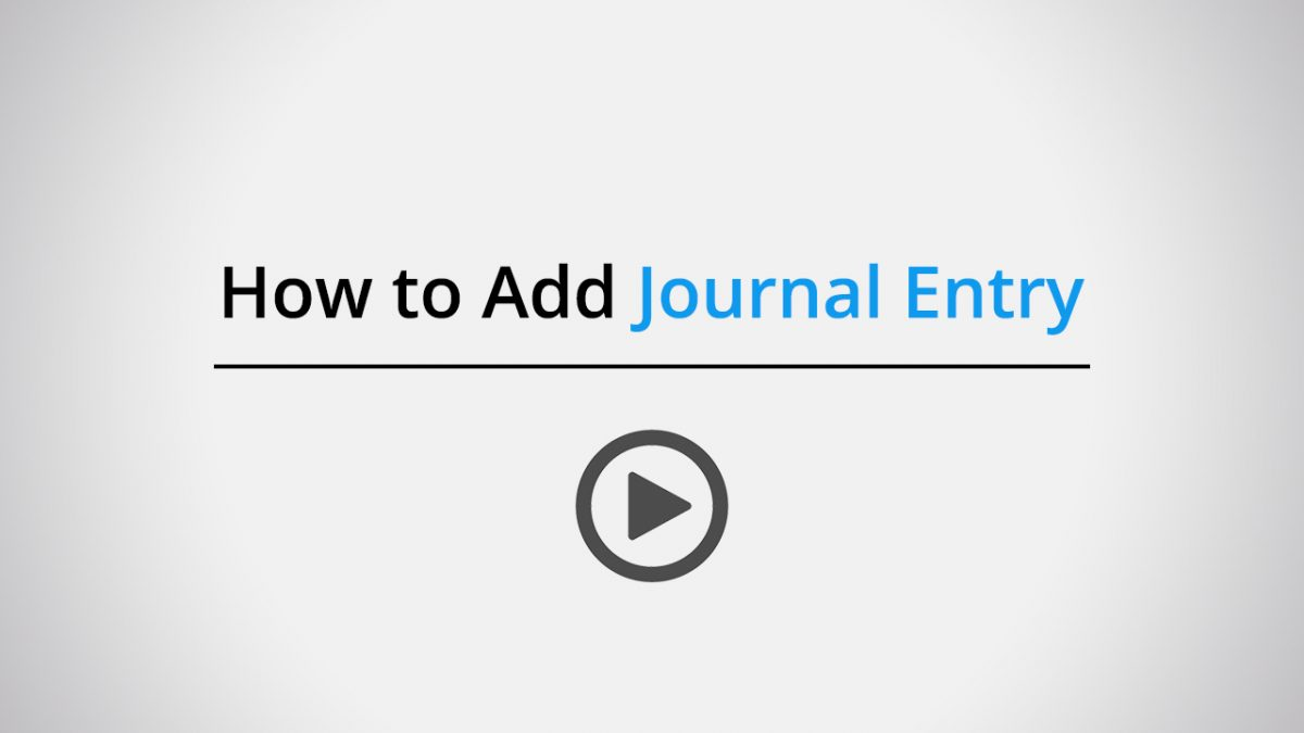 How to add journal entry