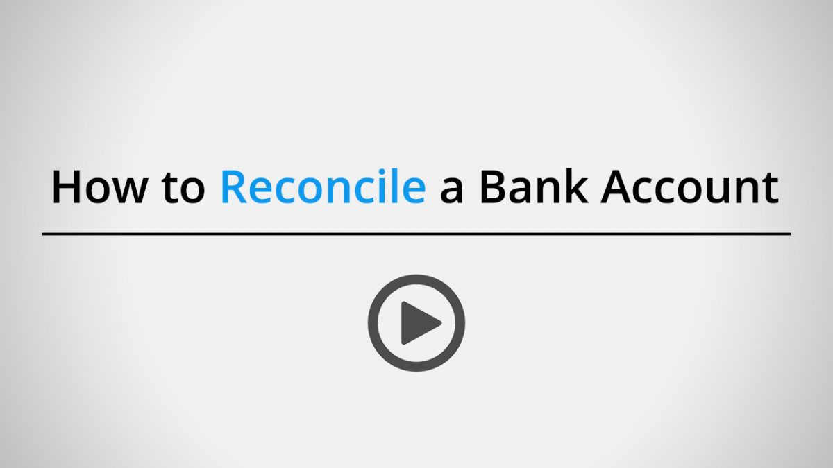 How to reconcile a bank account