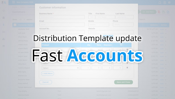 Distribution Template update