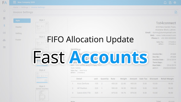 Fifo Allocation update