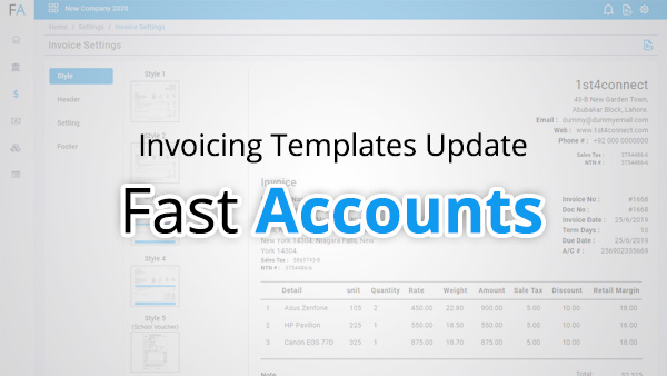 Invoicing templates update
