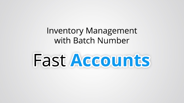 Inventory Management with Batch Number