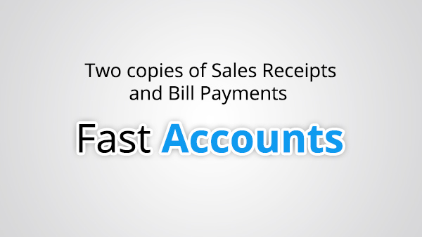 Two copies of Sales Receipts and Bill Payments