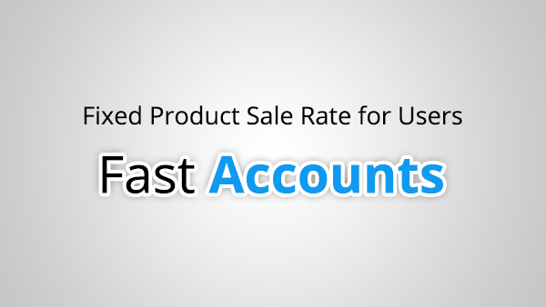 Fixed Product Sale Rate for Users