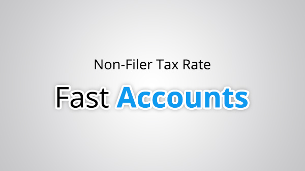 Non Filer Tax Rate
