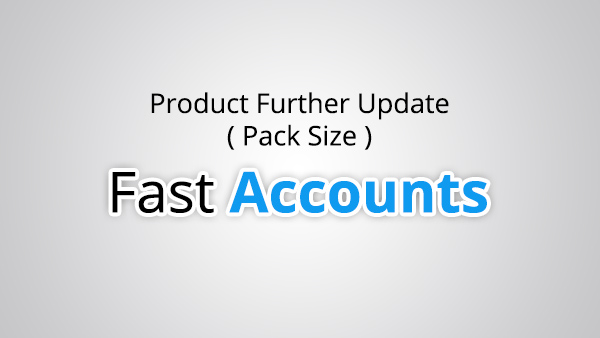 Product Further Update Pack Size